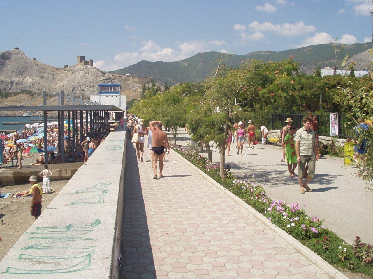 Крым судак морское фото пляжей и набережной